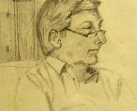A drawing of Bill by Blanche